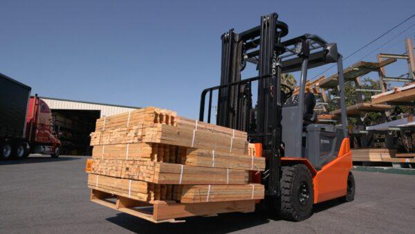 toyota pneumatic electric forklift lumber yard