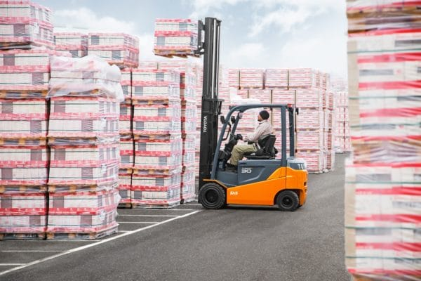 toyota electric pneumatic forklift outdoor application