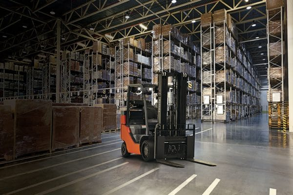 Toyota box car special forklift application
