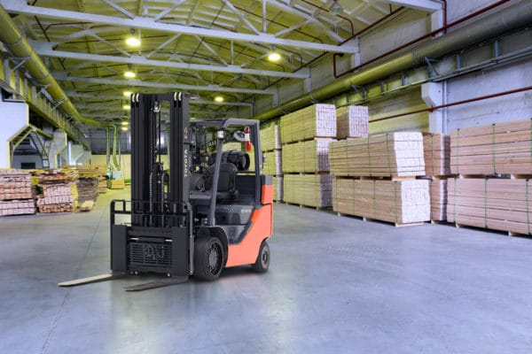 Toyota box car special forklift in warehouse