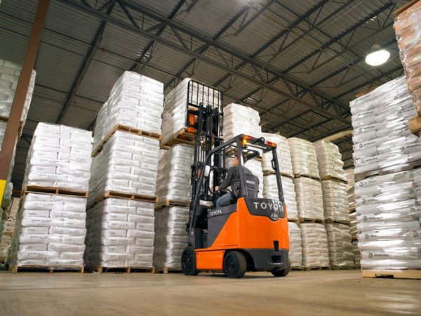 toyota electric forklift indoor warehouse application