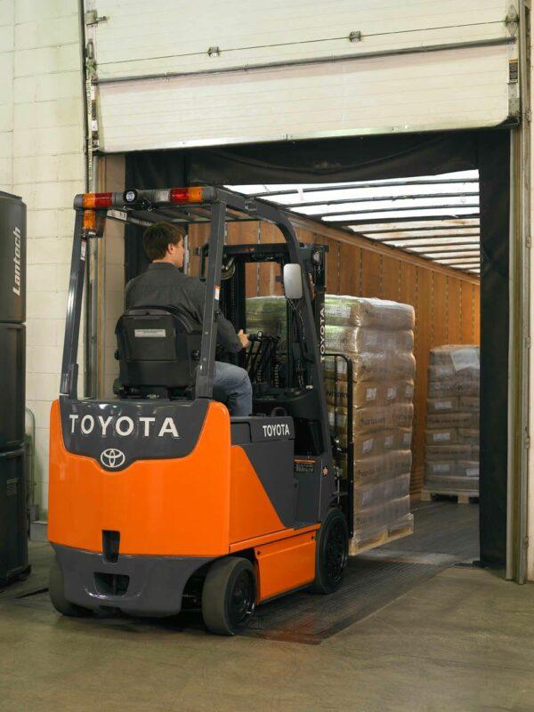 toyota electric forklift loading dock