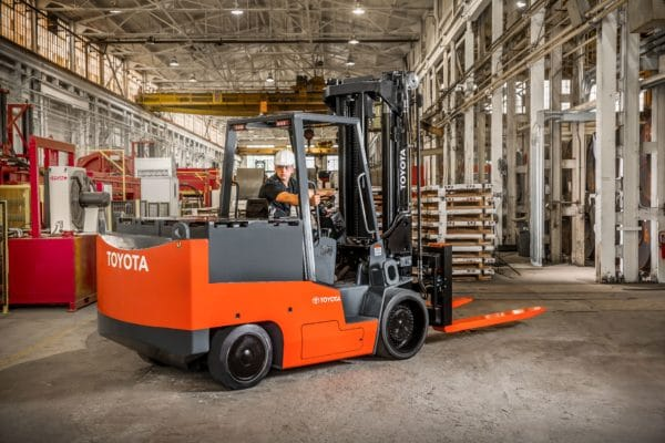 toyota high capacity electric forklift application
