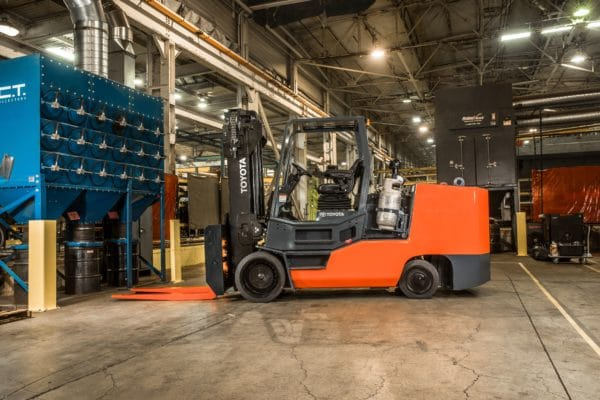 toyota high capacity forklift application