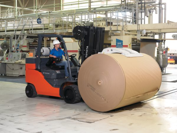 toyota paper roll special forklift with paper roll