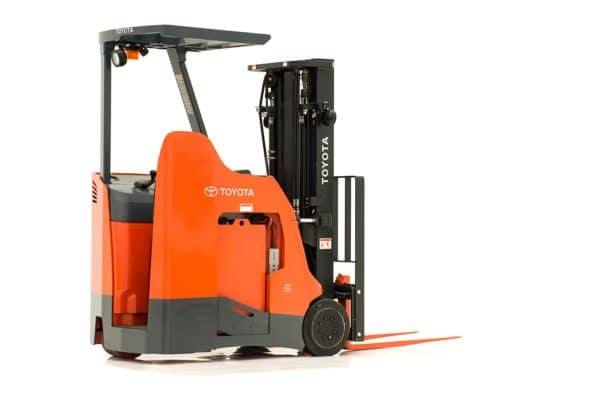 toyota stand up rider electric forklift