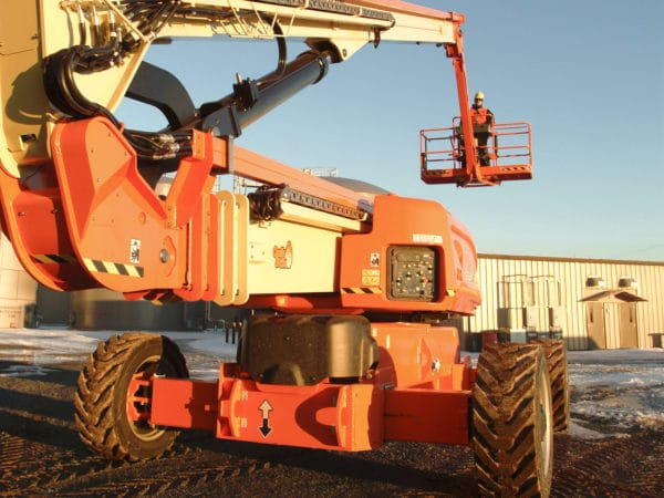 jlg 1250ajp articulating boom lift application