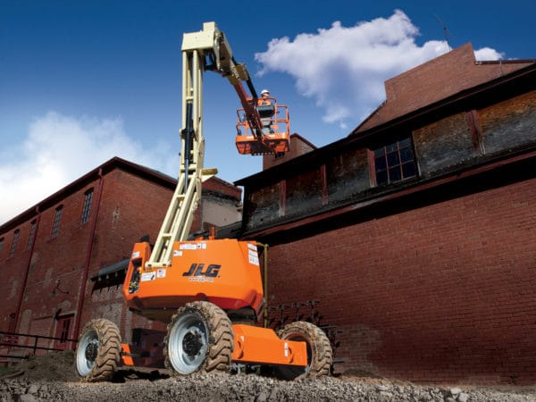 jlg 340 aj articulating boom lift application