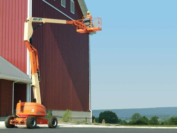 jlg 600aj articulating boom lift application