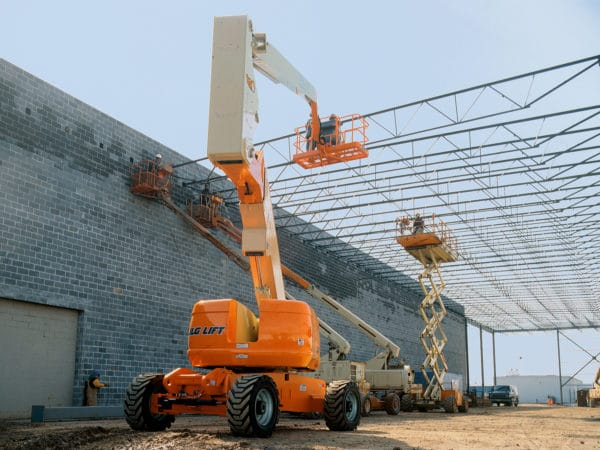 jlg 800a articulating boom lift application