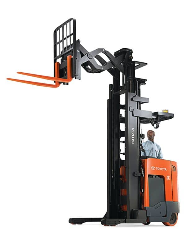 toyota reach truck elevated forks