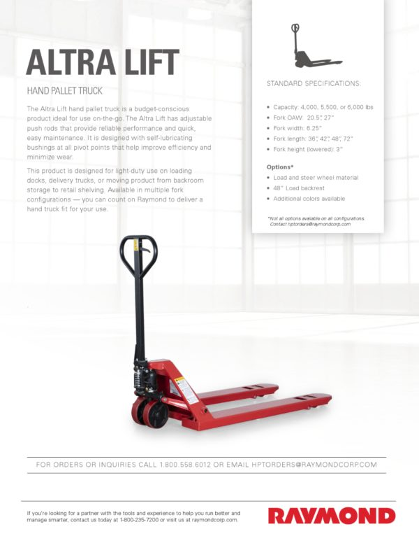 Altra Lift Sell Sheet