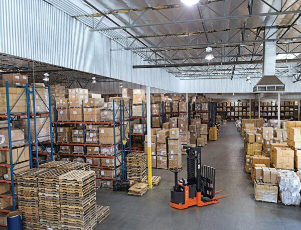 toyota walkie reach truck in warehouse application