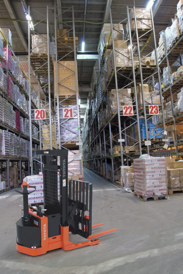 toyota walkie reach truck indoor warehouse application