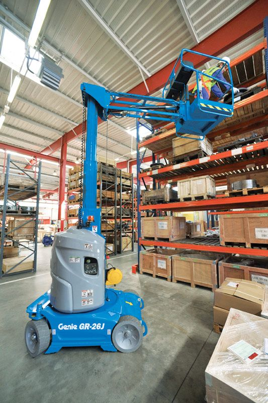 genie gr-26j runabout vertical mast lift application