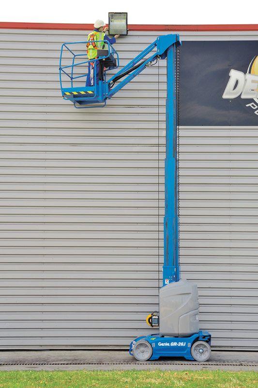 genie gr-26j runabout vertical mast lift application