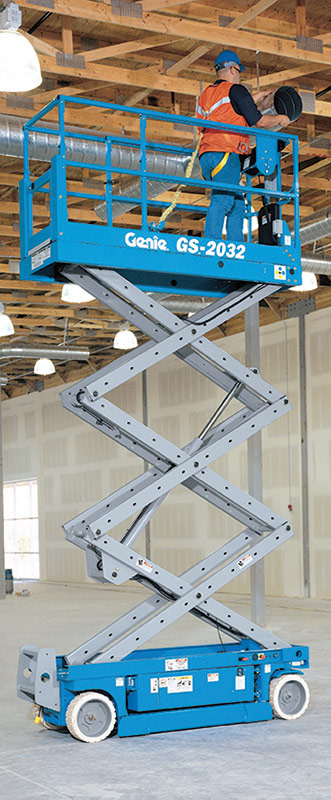 genie gs-2032 scissor lift application