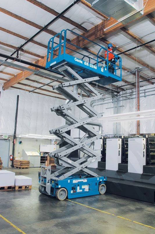 genie gs-2046 scissor lift application