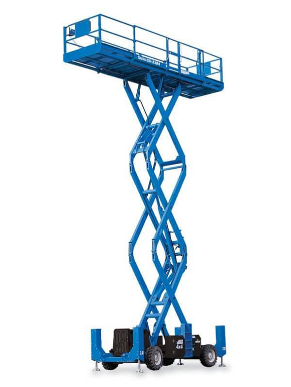 genie gs-3384 rough terrain scissor lift