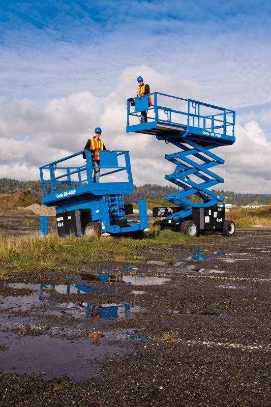 genie 4069 rt rough terrain scissor lift application