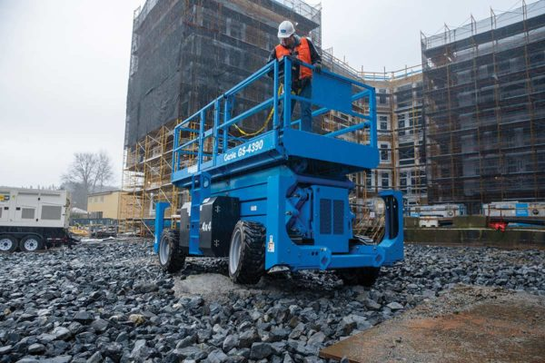 genie gs-4390 rt rough terrain scissor lift application