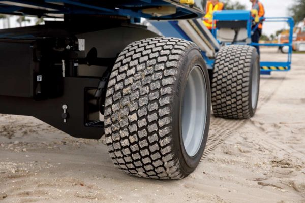 genie s-45 hf telescopic boom lift tires