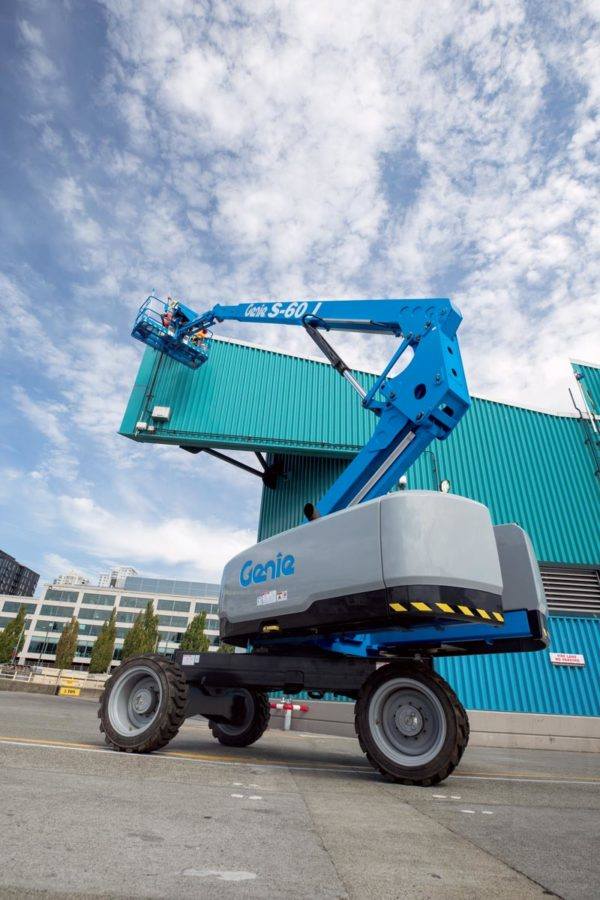 genie s-60 j telescopic boom lift outdoor application