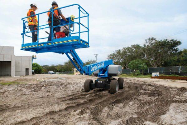 genie s-65 hf telescopic boom lift application