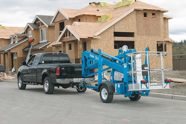 genie tz-34/20 trailer mounted boom lift application