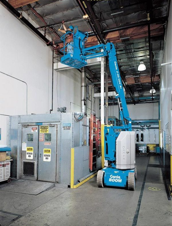 genie z-30/20 n articulating boom lift indoor application