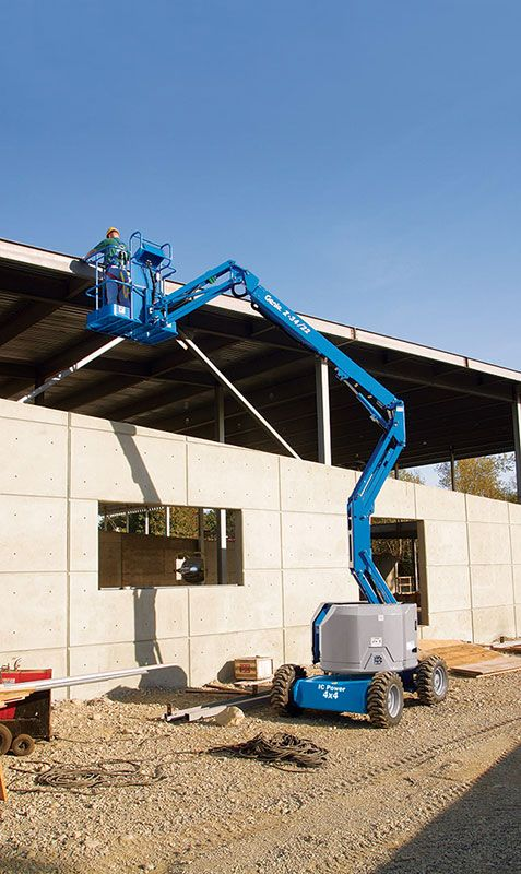 genie z-34/22 dc & bi-energy articulating boom lift application
