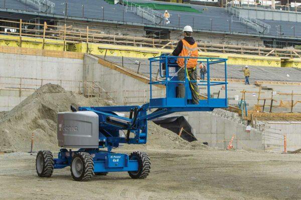 genie z-45/25 rt articulating boom lift application