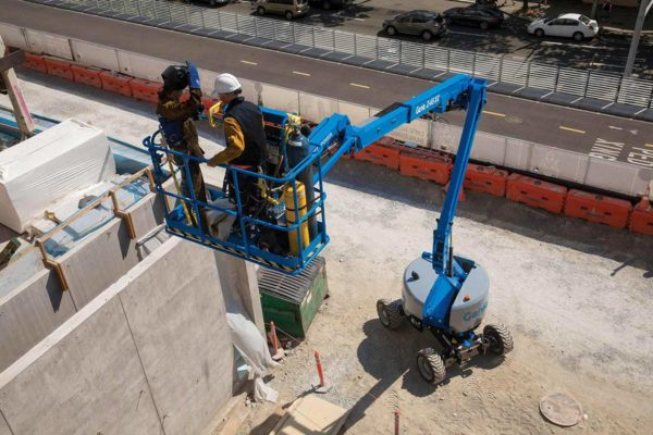 genie z-45 xc articulating boom lift application