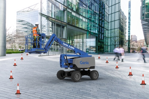 genie z-45 fe articulating boom lift application