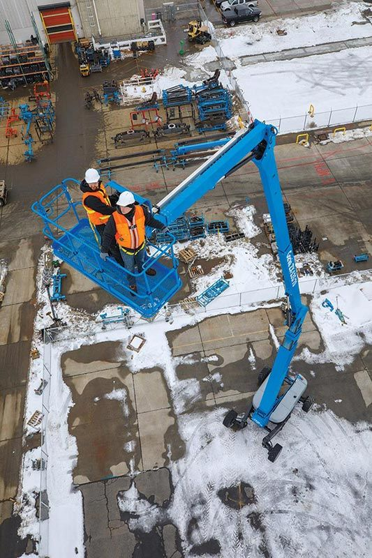 genie zx-135/70 articulating boom lift application