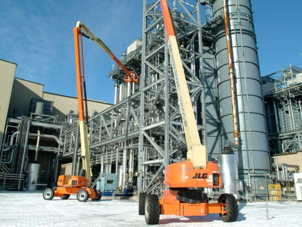 jlg 1200sjp telescopic boom lift refinery application