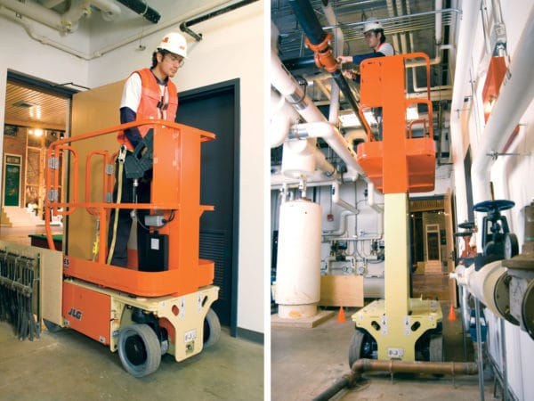 jlg 1230es driveable vertical mast lift maintenance application