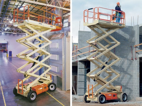 jlg 4069le electric scissor lift application