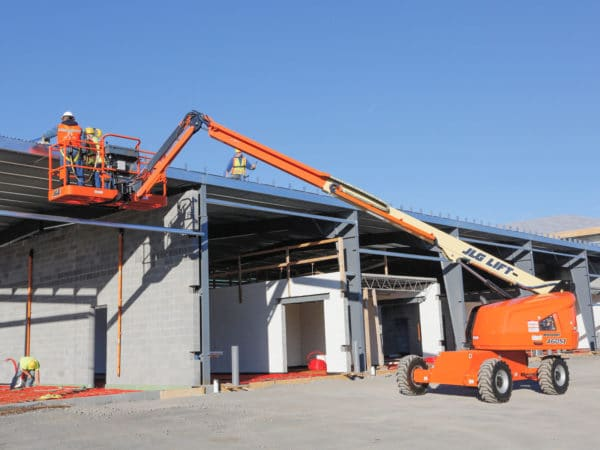 jlg 460sj telescopic boom lift construction application