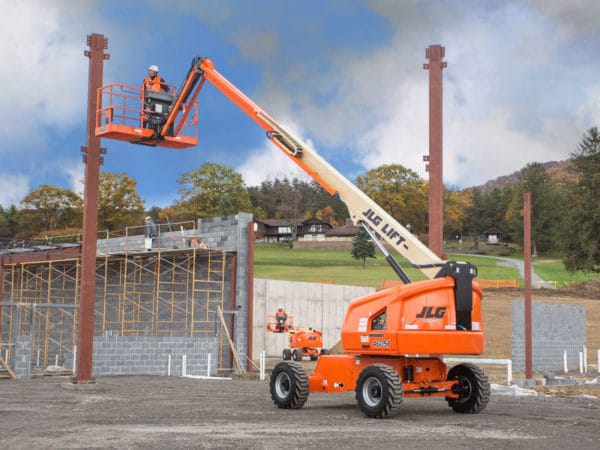 jlg 460sj telescopic boom lift application