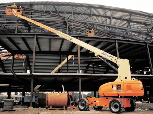 jlg 860sj telescopic boom lift construction application