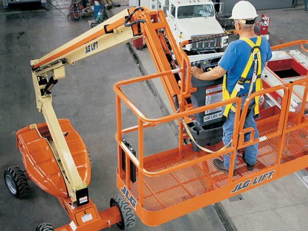 jlg e600 telescopic boom lift application