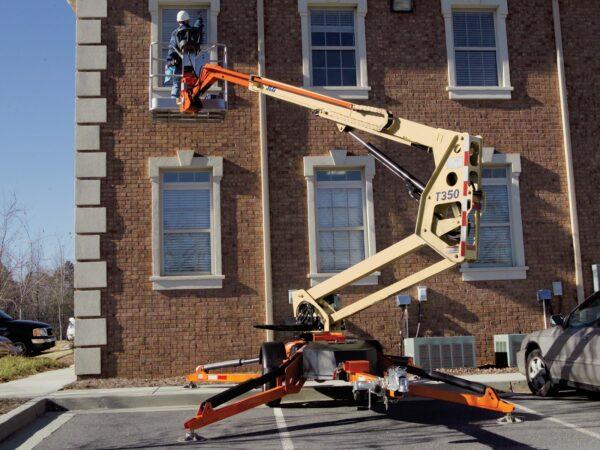 jlg t350j towable boom lift application