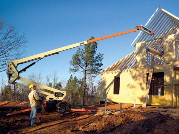 jlg t500j towable boom lift application