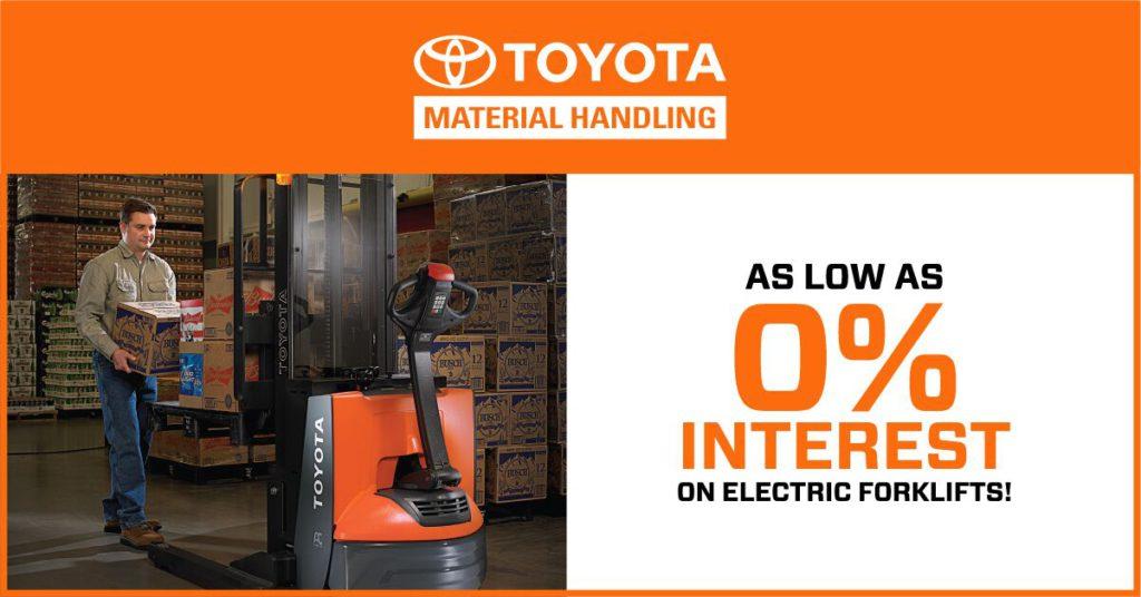 Toyota Forklifts: Zero Percent Plus 1