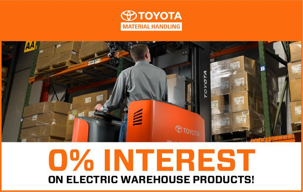 toyota forklift warehouse lease event