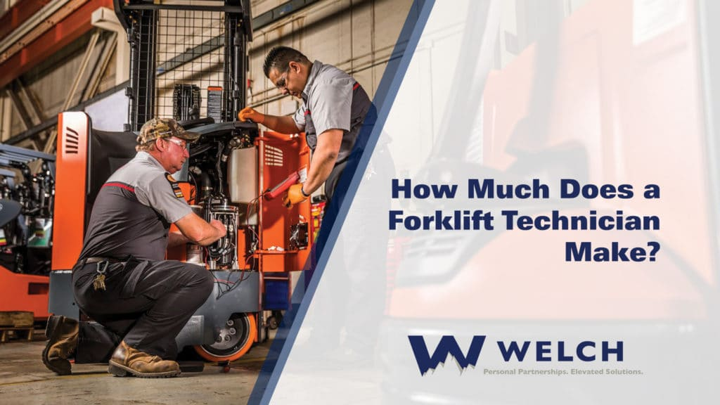 forklift technician pay