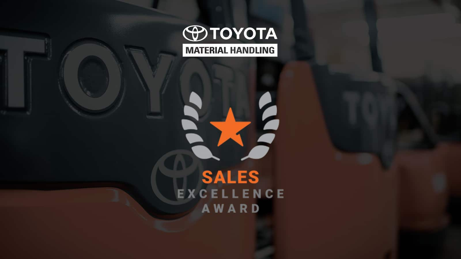 welch equipment receives toyota material handling sales excellence award